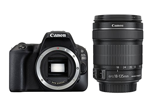 Canon EOS 200D Digital SLR Camera with EF-S 18 - 55 mm f/4-5.6 IS STM Lens...