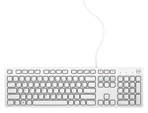 (Dell USB Wired Multimedia Desktop Keyboard, English, Model: KB216 (White))