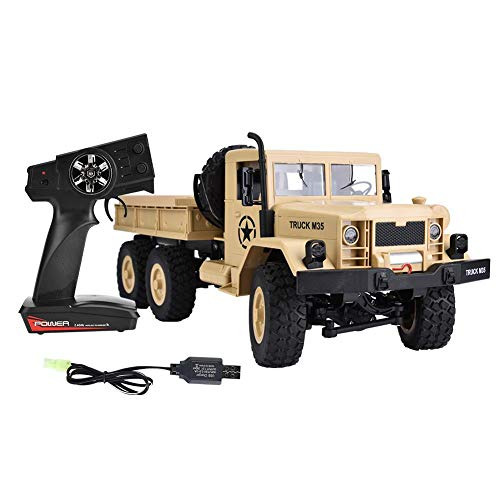 Zouminy M35A2 1/12 Scale Remote Control Military Truck Toy RC 6WD Off-Road Model Car(M35A2 Military Truck)