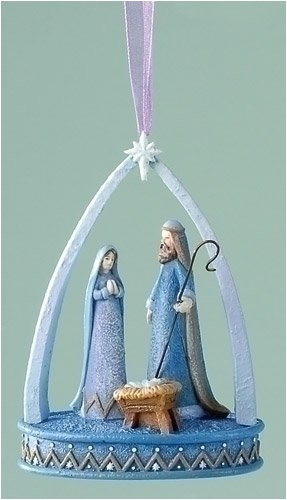 Club Pack of 8 Abbi Brown Holy Family Nativity Scene Christmas Ornaments