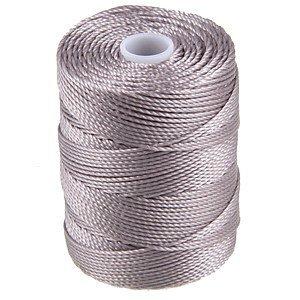 C-LON Bead Cord, Silver - 0.5mm, 92 Yard Spool