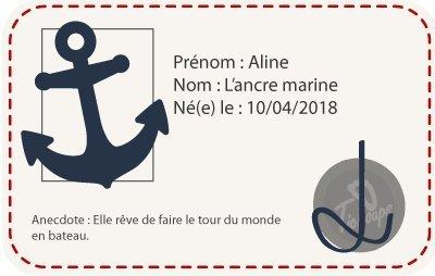 Tichoups Chaussons b/éb/é cuir souple Aline lancre marine 16//17