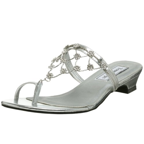 Touch Ups Women's Marcella Sandal,Silver,8 M
