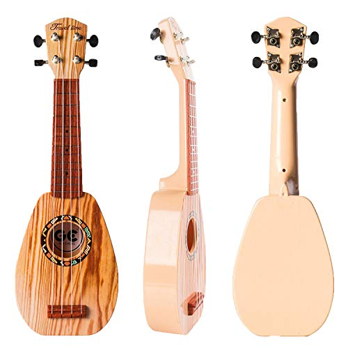 17 Inch Guitar Ukulele Toy For Kids ,Guitar Children Educational Learn Guitar Ukulele With the Picks and Strap Can Play Musical Instruments Toys (17 Inch) (Kids Toy Guitar)
