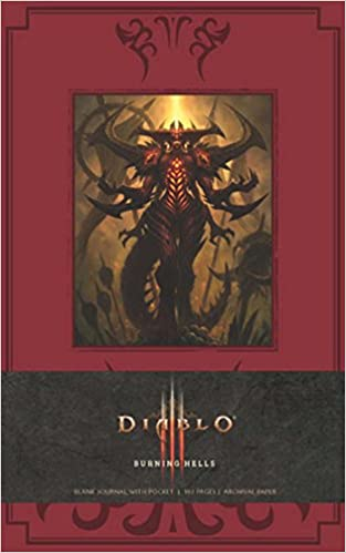diablo burning hells hardcover blank journal insights journals