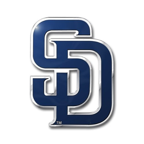 (MLB San Diego Padres Die Cut Color Automobile Emblem)
