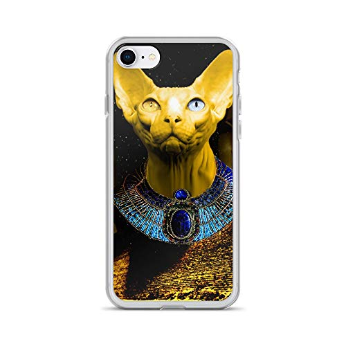 iPhone 7/8 Case Anti-Scratch Creature Animal Transparent Cases Cover Made This Piece for Those Who Like Egypt Kulture Animals Fauna Crystal Clear (Best Homemade Bong Designs)
