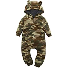 YJM Baby Camoflauge, Infant Baby Boys Camouflage Hoodie Tops +Long Pants Outfits Set Clothes 0-3Y