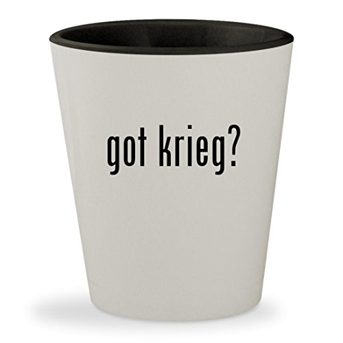 Krieg The Psycho Costume (got krieg? - White Outer & Black Inner Ceramic 1.5oz Shot Glass)