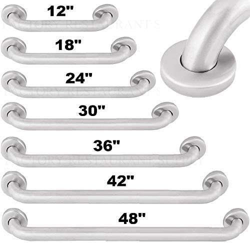 "Commercial Grab Bar Stainless Steel Bath Bathroom Safety Handicap Hand Wall Rail (24"" Grab Bar) 41X8PJiewbL"