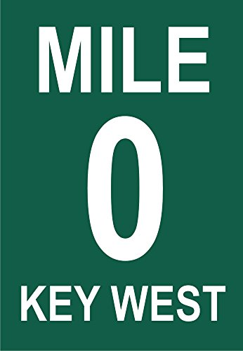 0 Mile Marker Sign, Key West, Florida, FL Souvenir Magnet 2 x 3 Fridge Magnet (Mile Marker Keys Florida)