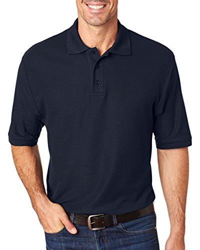 (Jerzees Easy Care Adult Pique Sport Shirt, J. Navy, XXXX-Large)