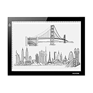 """HUION L4S Diagonal 17.7"""" Ultra Thin 5mm LED Light Box Pad Tracing Board Table for Drawing Stencil Tattoo"""