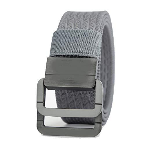 (ZFADDS Military Equipment Tactical Belt Man Double Ring Buckle Thicken Canvas Belts For Men Waistband Gray 115cm)