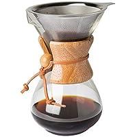 Comfify Vierta sobre cafetera eléctrica con Jarra de Cristal de borosilicato y Reutilizable Filtro de Acero Inoxidable…