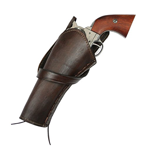 Historical Emporium Men's Left Hand Plain Leather Western Cross Draw Holster (Loop Cross Draw Holster)