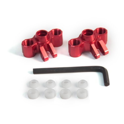 Front Knuckle Axle Carriers for Traxxas Summit 1:16 - Red by Atomik RC