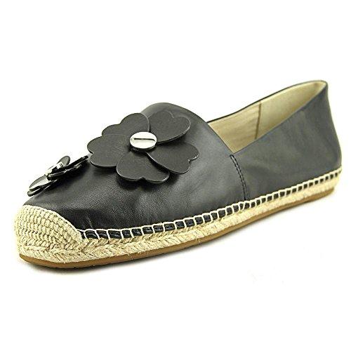 MICHAEL Michael Kors Womens Kit Espadrille Slip-On Flats (10 B (M) US, Black)
