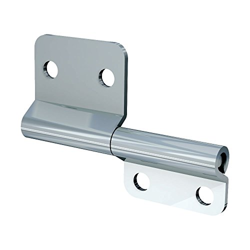 (TCH Hardware 10 Pack Steel Small Slip Joint Flag Hinge - Lift Off Left Handed Zinc Plated Lid Door)