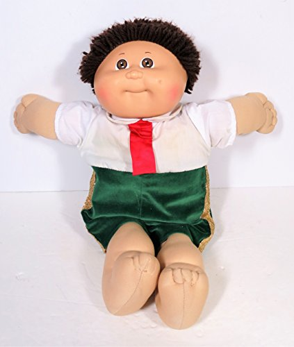 1982 Vintage Original Cabbage Patch Kids Doll Brown Eyes Brown Yarn Hair 16 Inches Tall