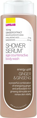 Lifelab Revitalizing Ginger and Ginseng Age Counteractive Body Wash Shower Serum, 14.7 Fluid Ounce -