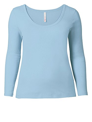 sheego Casual Camiseta manga larga tallas grandes 100 % algodón Mujer