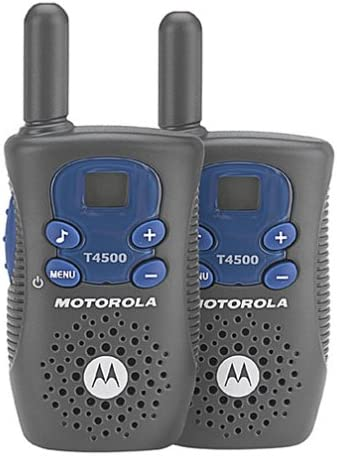 Motorola T4500 AA 2-Mile 22-Channel FRS GMRS Two-Way Radios Pair