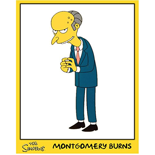The Simpsons (TV Series 1989 - ) 8 inch by 10 inch) PHOTOGRAPH Montgomery Burns w/Yellow Frame kn ()