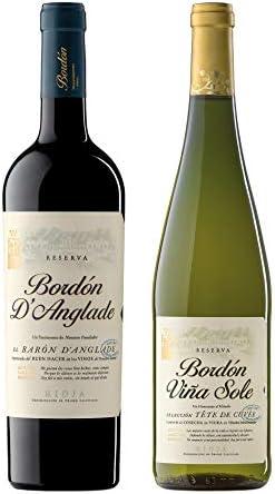 Pack Vinos de Reserva de La Rioja (6 Botellas) - 3 Bordón D'Anglade Reserva + 3 Bordón Viña Sole blanco Reserva