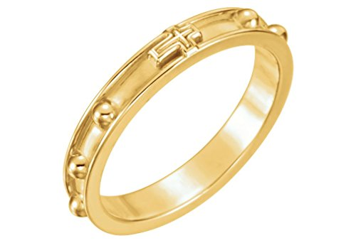 Rosary Ring 3.25mm 18k Yellow Gold, Size 11