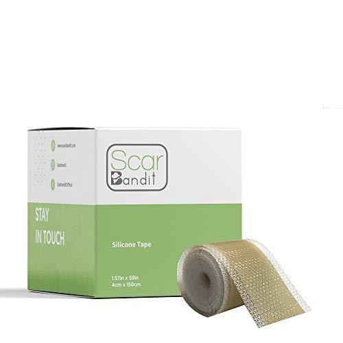 Premium Silicone Gel - Scar Bandit Premium Medical-Grade Soft Silicone Gel Tape 1.6