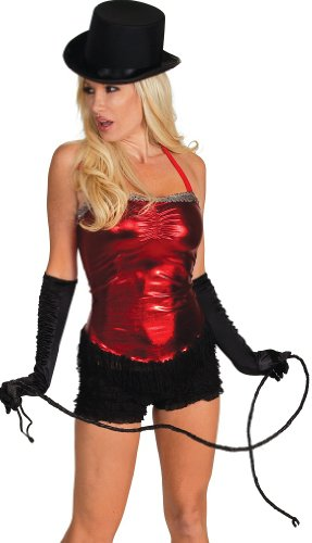 Delicate Illusions womens Foil Plus size Circus TrainerX Costume-Red, -