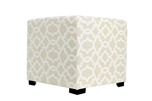 MJL Furniture Designs Merton Collection Square Tufted Ottoman with Subtle Sheffield Design Upholstered 4 Button Top Cubed Tuft, 19