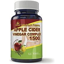 Maximum Potency 1500mg Apple Cider Vinegar Complex 60 Capsules