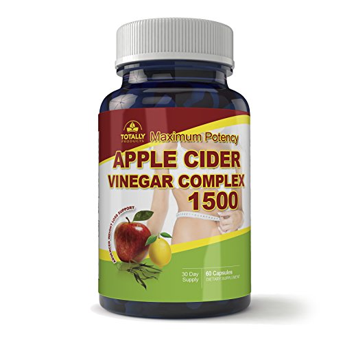 Maximum Potency 1500mg Apple Cider Vinegar Complex 60 Capsules - All Natural Weight Loss, Detox, Digestion & Circulation Support - Includes Bonus Diet eBook