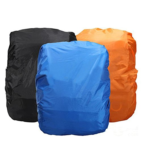 41X8UG0qY4L. SS500  - NUOLUX Universal Foldable Outdoor Camping Hiking Waterproof Dustproof Travel Backpack Rucksack Rain Cover Protector 15L-35L (Black)