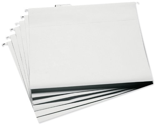Cropper Hopper Hanging File Folders 6/Pkg, 13.25''X14.75'' White