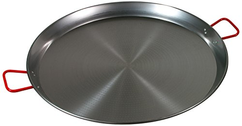 Garcima 32-Inch Carbon Steel Paella Pan, 80cm by La Paella