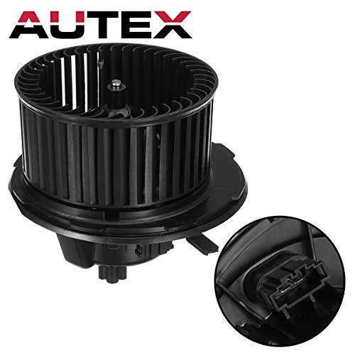 Volkswagen Blower Motor - AUTEX AUTO HVAC Blower Motor Assembly Compatible with Audi A3 2.0L 1984CC 06-13 Blower Motor Replacement for Volkswagen Cc Passat Eos Gti Jetta Rabbit Tiguan 05-16 AC Blower 700182 1K1819015E