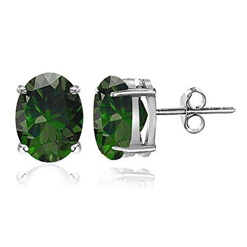 Sterling Silver 7x5 Emerald - 5