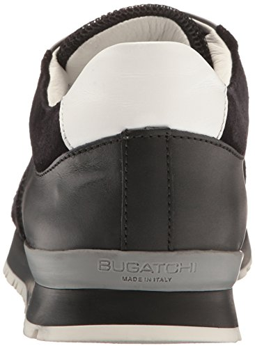 Bugatchi Mens Monaco Fashion Sneaker Nero