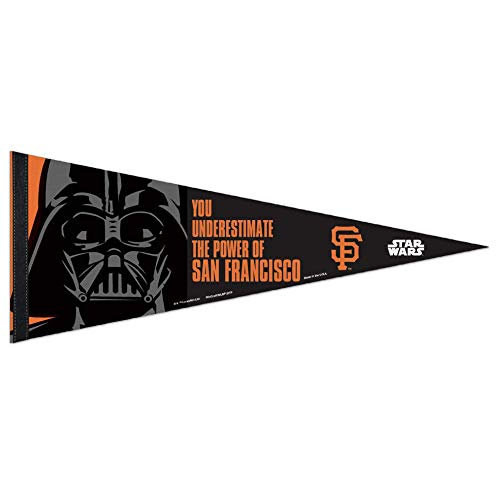 Bek Brands Baseball Teams Special Collector's Flag Banner Pennant with Yoda, Chewbacca, Darth Vader, 12 x 30 in (San Francisco Giants, Darth ()