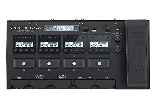 2 Multi Effects (Zoom G5n Multi-Effects Processor + Zoom SCG5 Carry Case + Two 18.6' Instrument Cables (4 items))