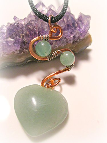 Chakra Pendant Heart Chakra Handcrafted Semi Precious Stones, Harmony, Balance Energy Meridians, Zen, Love, Reiki, Yoga, (Stone Precious Heart)