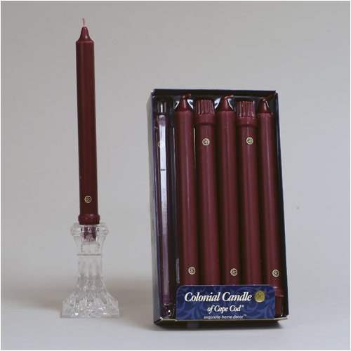 Colonial Candle Classic Tapers, 8-Inch, Mulberry - by Colonial Candle
