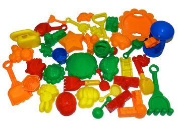 Night Lions Tech 39 Pieces Bulk Sand Molds Beach Toys Set in Zippered Bag