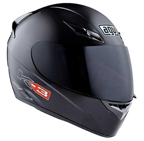 AGV K3 Solid Helmet , Size: Lg, Primary Color: Black, Distinct Name: Black Solid, Helmet Type: Full-face Helmets, Helmet Category: Street, Gender: Mens/Unisex 03215490002009