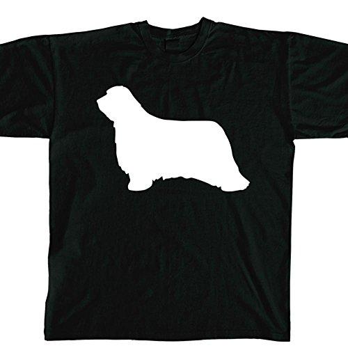 STICKERSLUG Black Bearded Collie Dog Unisex Crewneck cotton graphic t-shirt, size xx-large