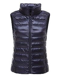 CHERRY CHICK Women's Ultralight Puffer Down Packable Vest