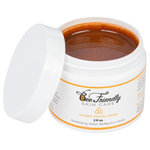 Raw Honey Facial Mask,100% All Natural w/ French Pink Clay Revitalizing Face Mask by BeeFriendly, Leaves Skin Soft, Smooth, Youthful, Pulls Impurities, Enhances Collagen Production, Clears (Fresh Sugar Face Polish)